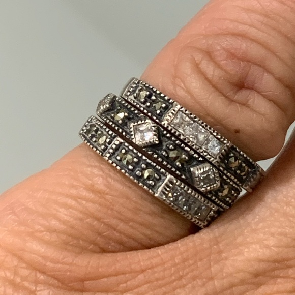 Judith Jack Stacked Rings .925 Sterling Silver